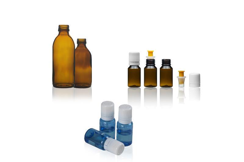 Bottiglie di vetro o plastica - LIQUIDI PER USO ORALE