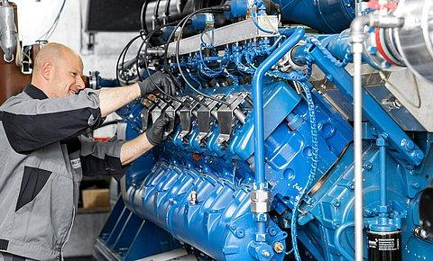 Cogeneration unit service - Gas engine technology