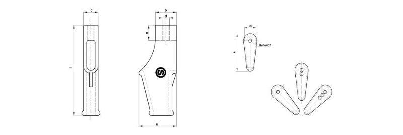 Wegde sockets - Wedge sockets in special design with screw
