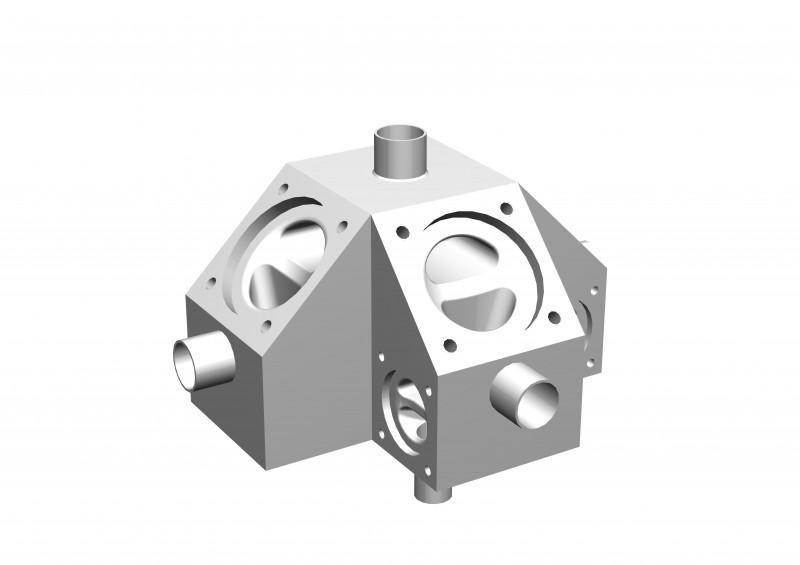 SISTO-CM700 Multi-Port Valve, forged body, PN16 - Multi-Port Valve,1.4435, butt welded/Clamp, enclosed diaphragm spirale supported