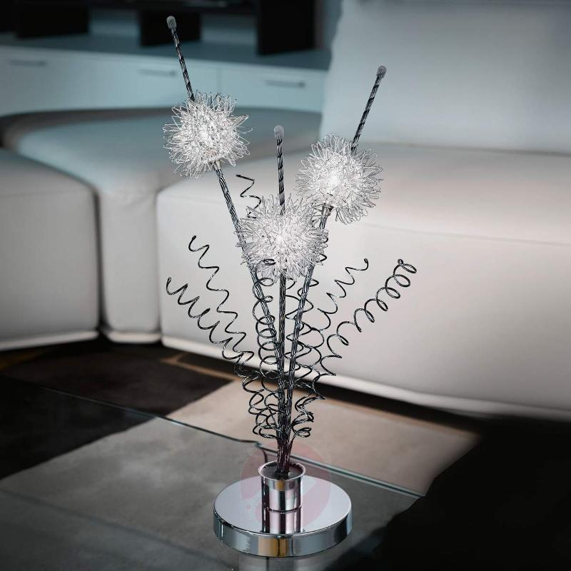Agliano Floral Designed Table Lamp - Window Sill Lights