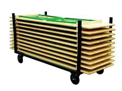 Chariot Tables Bois Brasserie - Tables De Collectivités