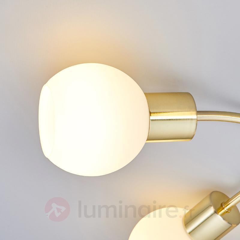 Elaina - Plafonnier LED à 5 lampes en laiton - Plafonniers LED