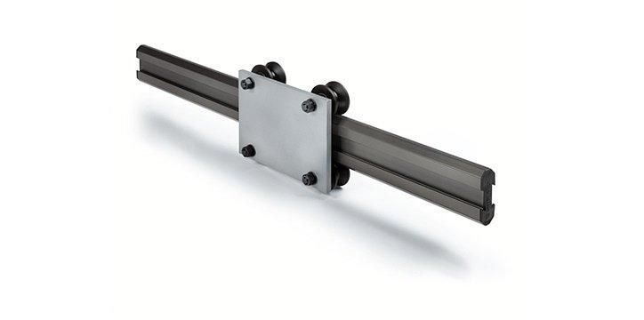 Speedy Rail - Self-supporting linear rail in extruded aluminum with steel rollers covered