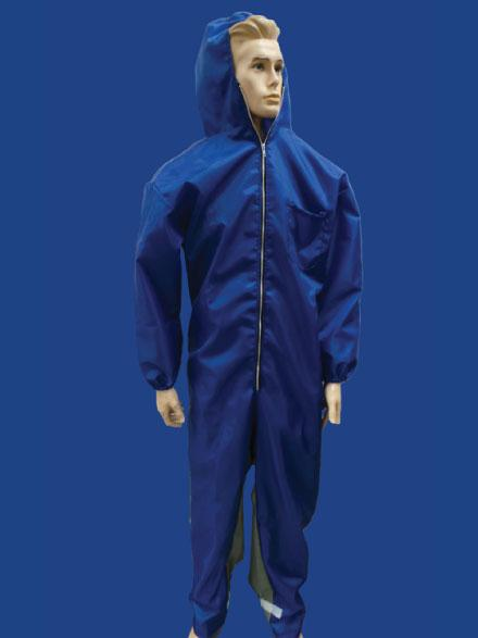 Blue Nylon Paint suit with hood - Blast Suits - SKU: [5050/MXPWH]