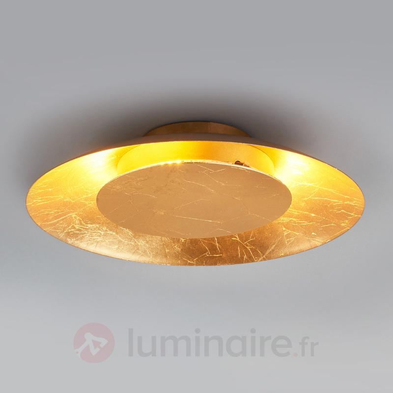 Plafonnier LED Keti doré - Plafonniers LED