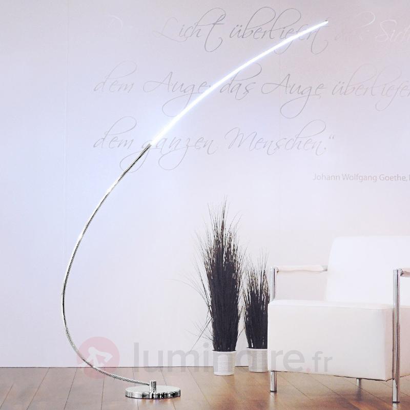 Lampadaire arqué en métal Chromo avec LED - Lampadaires LED