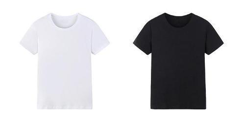 Hombre de la camiseta cuello redondo - camiseta blanca, con cuello redondo
