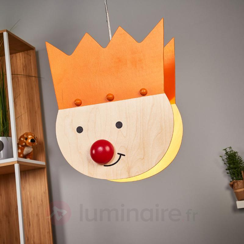 Magnifique suspension Prince orange - Chambre d'enfant
