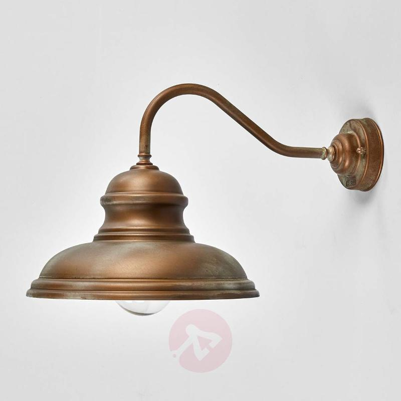 Wall lamp ALESSIA in antique brass - Outdoor Wall Lights