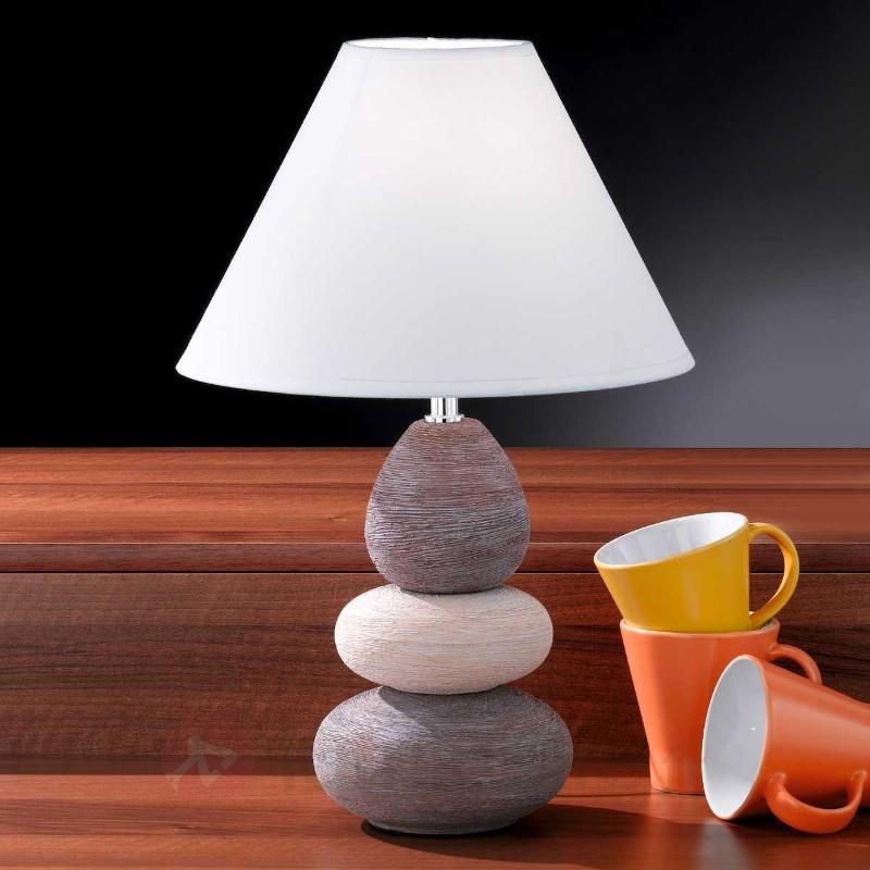 Lampe à poser originale BALON brun beige - Lampes à poser en tissu