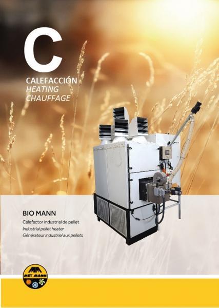 Calefacción industrial con biomasa granulada 43 a 300 kW - B - Generadores de aire caliente con funcionamiento a pellet
