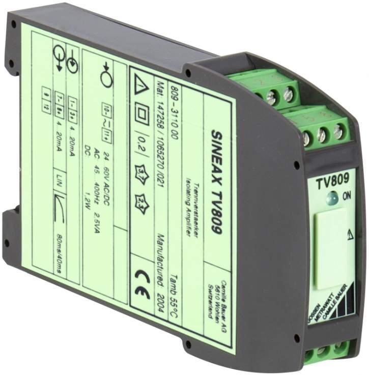 SINEAX TV809 - Trennverstärker