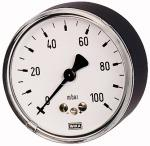 Capsule pressure gauge, rear eccentric, G 1/2, 0 - 400... - Capsule-type pressure gauge, connection on rear, 63 = centrical, 100 =...