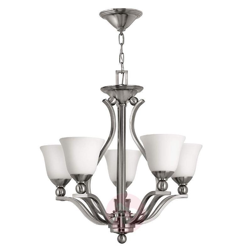 Bolla Hanging Light Nickel Five Bulbs - Pendant Lighting