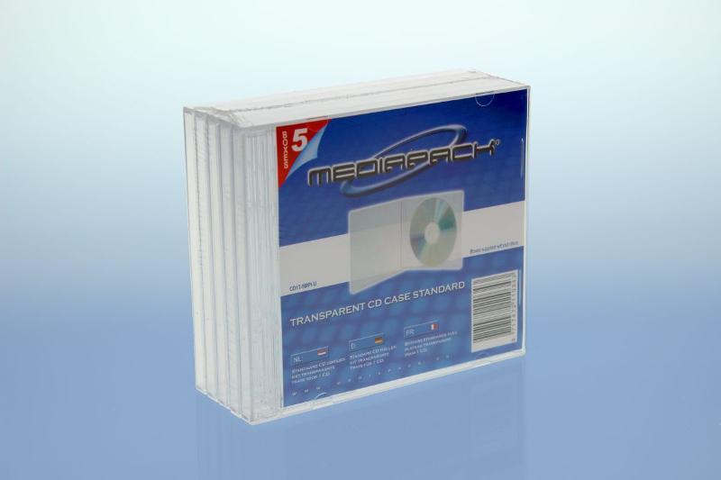 CD Jewelcase 5er Pack - MPI - transparent - Retailverpackungen & Zubehör