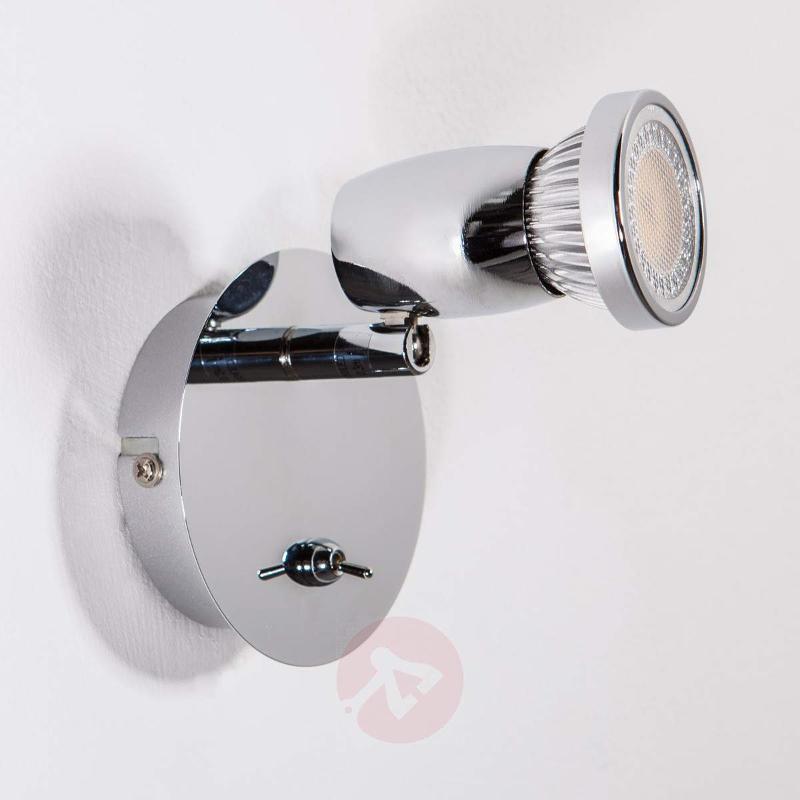 Glossy chrome LED spot Arminius - Wall Lights