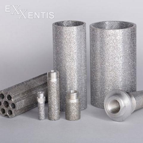 Pneumatic silencers,  - Pneumatic silencers of porous aluminium - an option for sintered metal silencers