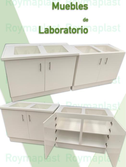 Muebles de polipropileno para laboratorios - Muebles con fregaderos exclusivo laboratorios