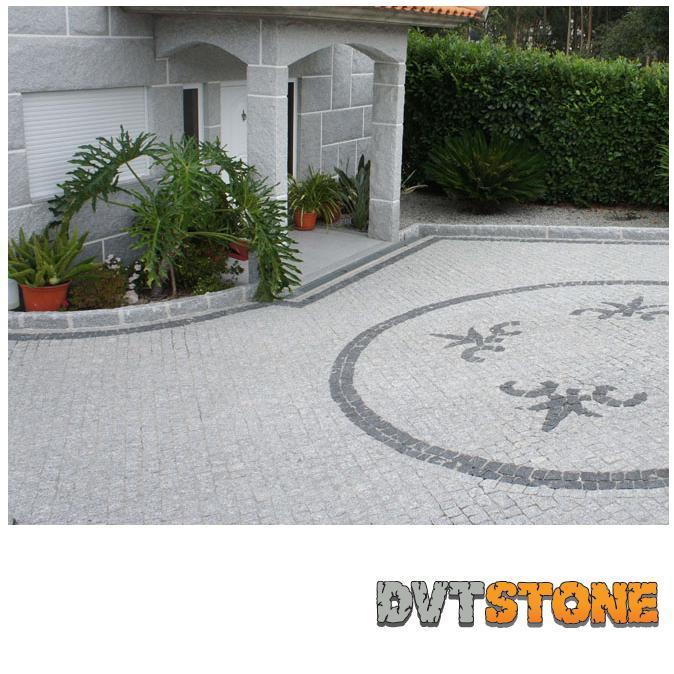 Pavés de Granit Gris Foncé - Pavé de granit foncé. Finesse du grain qualité supérieure.