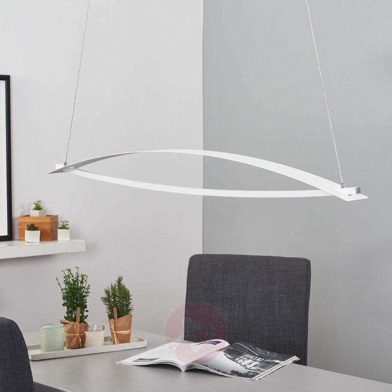 Joka hanging lamp in white, height-adj., dimmable - Pendant Lighting