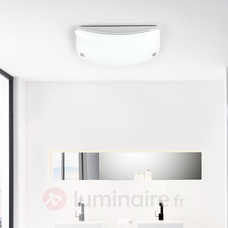 Plafonnier LED Malak en verre avec capteur - Plafonniers avec détecteur