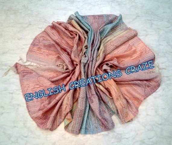 Wool Cotton woven over print SCARVES - Wool Cotton woven over print SCARVES