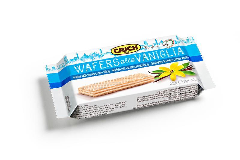 Wafers alla Vaniglia 20 pz x 45 g - Alimentare - Biscotti e dolciumi