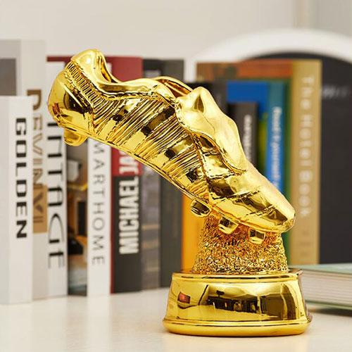 Resin electroplated golden shoes football trophy - Trophy & Award
