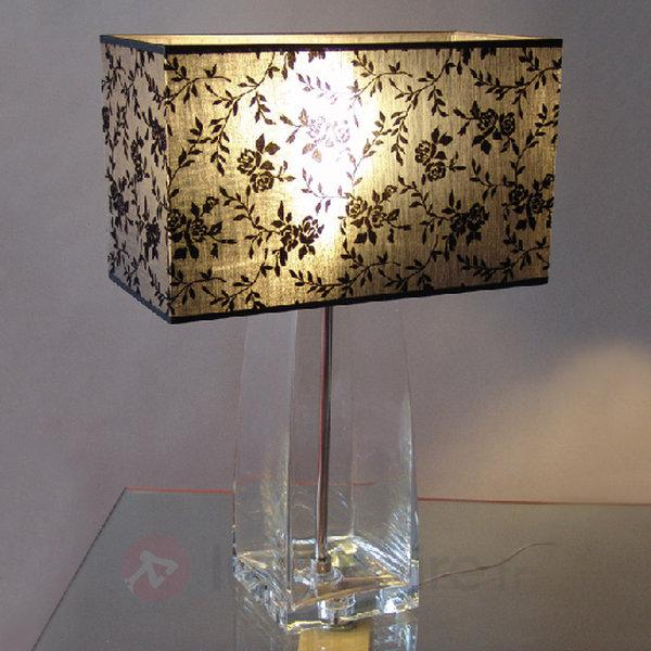 Lampe à poser décorative JULIA verre transparent - Lampes à poser en tissu