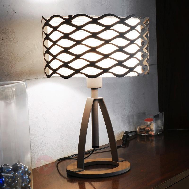 Exceptionnelle lampe à poser ALSACIA - Lampes de chevet