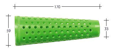 Kunststoffhülse für Spul- u. Färbemaschinen