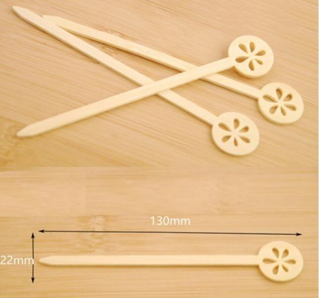 Bamboo paddle picks - Disposable bamboo food skewers/cake picks/bread picks