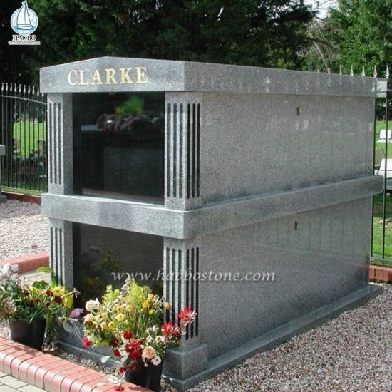 High Quality Granite Two Crypts Family Mausoleum - Mausoleum