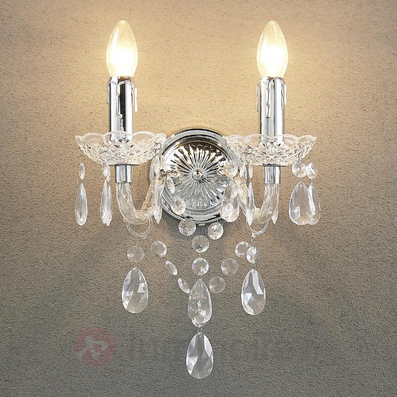 Élégante applique Merida à 2 lampes - Appliques classiques, antiques