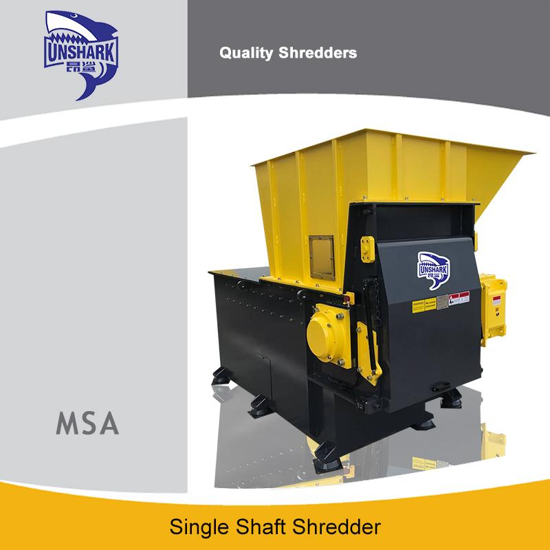 High Speed Scrap Pe Film Single Shaft Shredder - Waste Shredder Unique Application Shredder