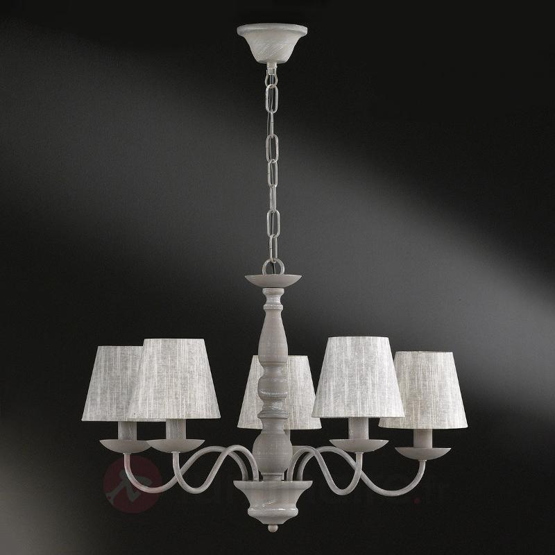 Lustre à cinq lampes Sheffield avec abat-jour - Lustres rustiques