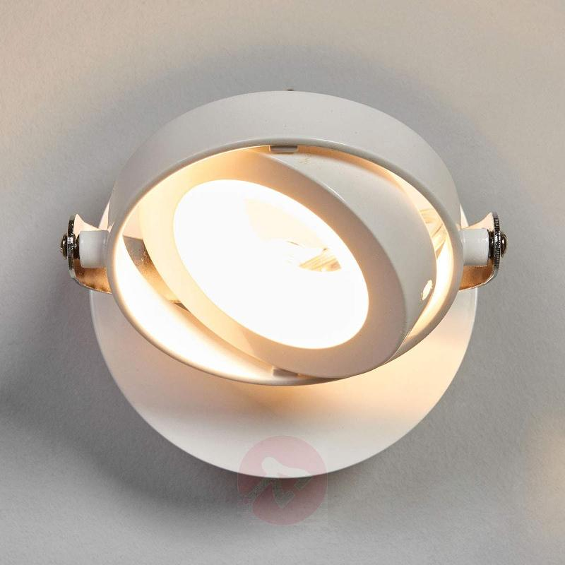 Ring-shaped LED wall lamp Marisa in white - Ceiling Lights