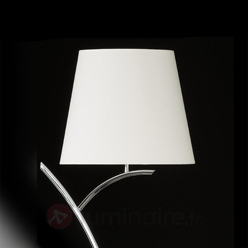 Lampadaire classique Y avec abat-jour en tissu - Lampadaires en tissu