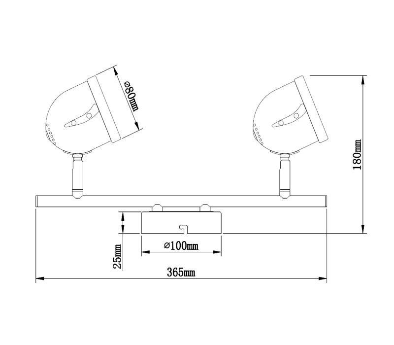 Lampe 2 spots GU10 35 W - null