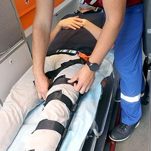 Traction leg splint - Designed for distraction of the extremity in case of fracture displacement