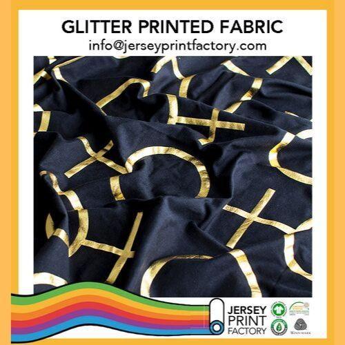Glitter gold silver printed fabric - Glitter gold silver printed fabric custom gold print