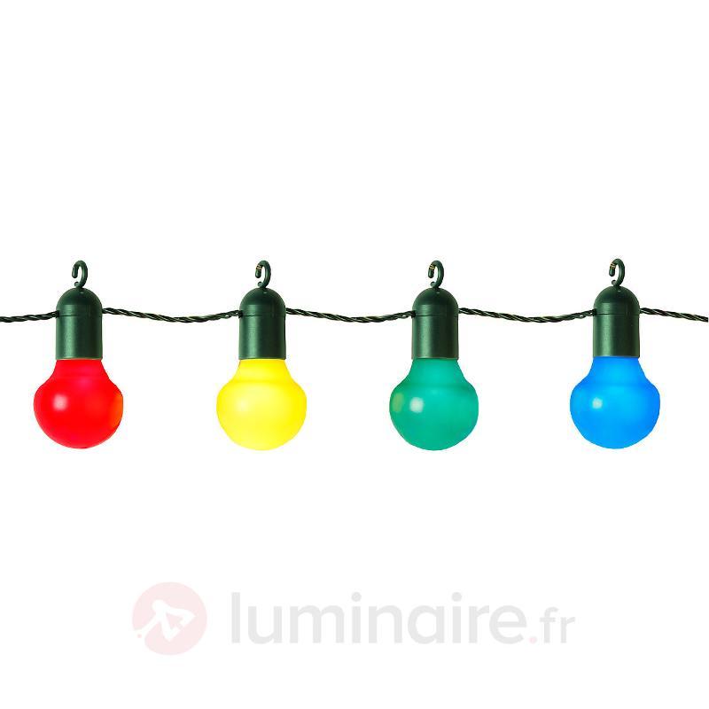 Guirlande lumineuse festive ELIN colorée 20 lampes - Lampes décoratives d'extérieur