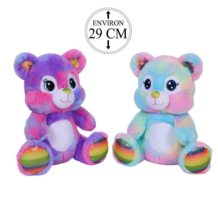 PELUCHE OURS RAINBOW BRILLANT - PELUCHES