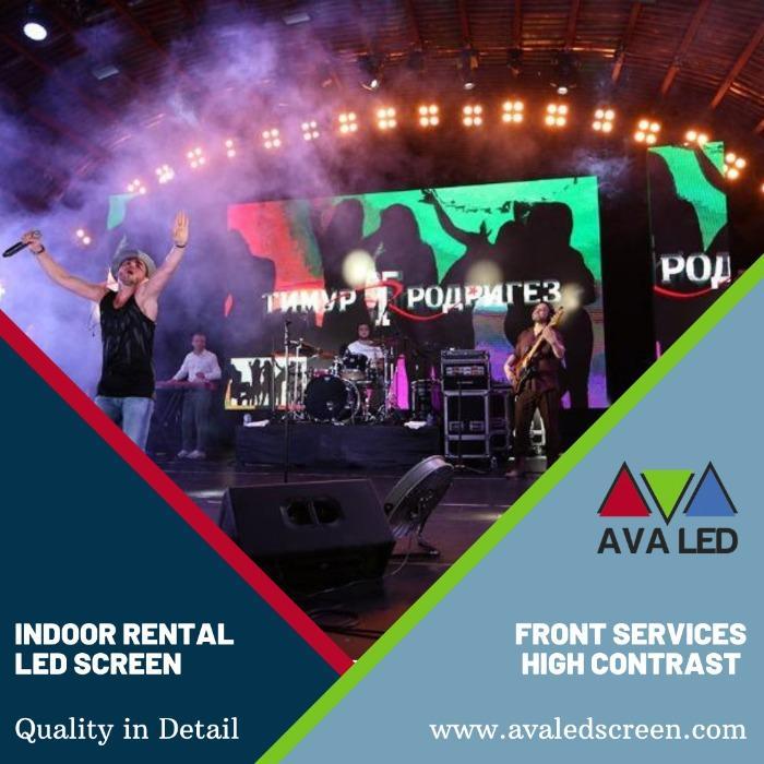 室内音乐厅的 LED 屏幕 - P1.95 - P2.6 - P2.97 - P3.91 租赁箱 AVA LED 显示屏