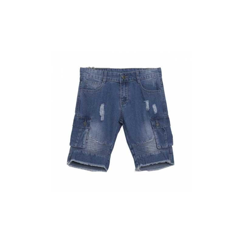 Bermuda jeans roto - 8-14 años