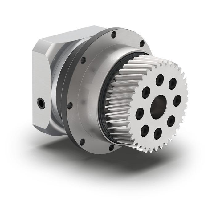 Planetengetriebe mit montiertem Ritzel PSFN - Präzisionsgetriebe mit Abtriebsflansch - Schrägverzahnt - IP65 - NEUGART