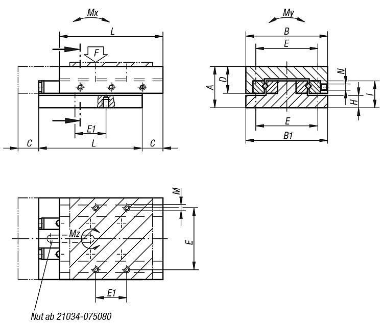 Systeme und Komponenten für den Maschinen und Anlagenbau - Präzisions-Schlittenführungen rollengelagert