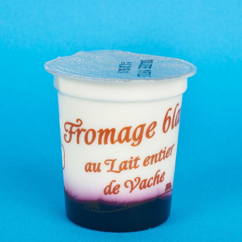 fromage blanc sur lit de myrtille 4x125G - Produits laitiers