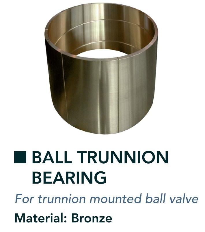 Ball & ball trunnion bearing - Valves - for trunnion mounted ball valve